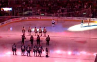 Canadian Hockey Fans Sing U.S. Anthem