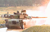 Army M1A2 Battle Tank Live Fire Exercise