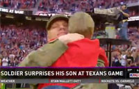 Soldier Surprises his Son at Texans Game