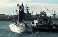 Submarine USS Mississippi Arrives in Pearl Harbor