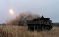 Pro-Russian Militia Conducts Grad Launches
