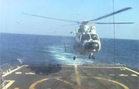 Chinese Helo Lands on USS Sterett