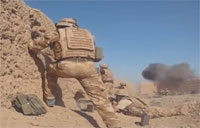 British Forces Firefight with Taliban in Afghanistan