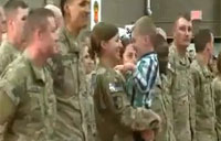 Military Protocol Means Nothing to Toddler