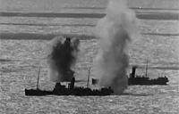 German Guns Bombard Merchant Ships