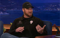 Sniper Chris Kyle Talks to Conan