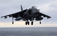 Harrier Jump Jets Perform Vertical Landings