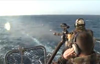 French Sailors Live Fire Minigun!