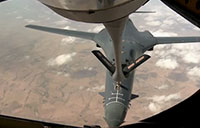 34th EBS B-1B Refuels over Syria