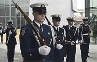 Coast Guard Honor Guard at WWII Memorial