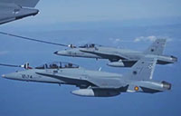A400M Refuels Two F-18s at Same Time