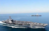 USS Carl Vinson and FS Charles de Gaulle