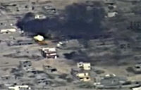 Iraqi Army Helicopters Engage Daash