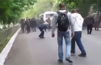 Ukrainian Protesters Shot During March