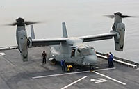 Osprey Lands on ROK Ship for First Time