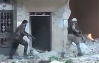 Syrian Forces and Palestinians Fight ISIS