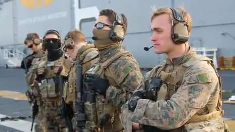Recon corpsmen on a mission for Military tattoo policy 2017