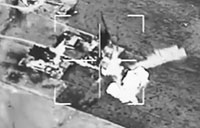 Daash Fighting Position Blown Up in Syria