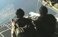 U.S. Army Spec Ops Make High Altitude Jump
