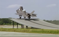 F-35B Completes First Ski Jump Launch