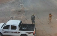 CCTV of ISIS Attack on Libya Checkpoint
