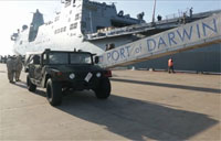 USS Green Bay Docks in Darwin: Talisman Saber 15