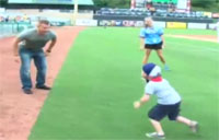 Sgt. Surprises Son at Smokies Game