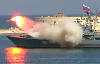 Russian Frigate Missile Launch Fail