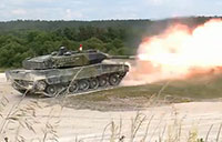 German Leopard 2 Tank in Action