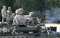 Soldiers Fire from the Stryker