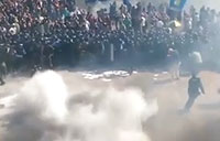 Grenade Blast During Ukrainian Demonstration