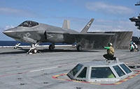 F-35C Launches from USS Eisenhower
