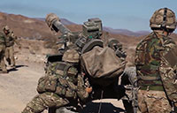 U.S. Marines Train With British Army Arty