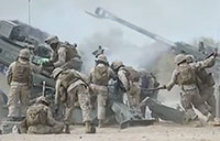 US Marines Shooting M777 Howitzer