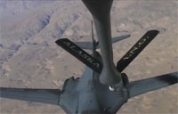 Aerial Re-fueling During Combat Mission
