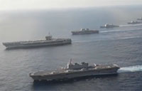 U.S. Aircraft Carrier Sails With Japanese Navy