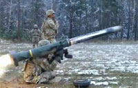 Javelin Missile in Slow Mo