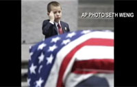 4-year-old Son Salutes his Dad at Funeral