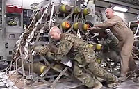 Air Force Delivers Bombs & Ammo to Turkey