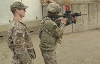 Airmen at Bagram on the Range