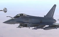British Typhoons Refuel Over Middle East