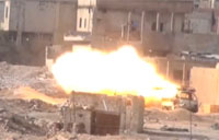 Syrian T-72 Hit with SPG-9