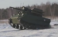 Russian Mini Tank Armed with Missiles