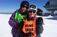 Disabled Veterans Sports Clinic: Blind, Skiing and Loving It
