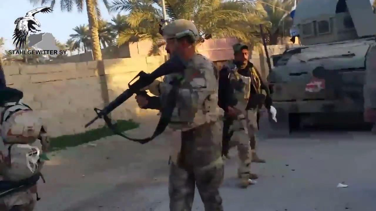 Close Confrontation Between Iraqi Soldiers & an ISIS Terror Cell in Ramadi