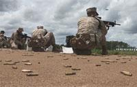 Marine Recruits Learn Shooting Fundamentals on Parris Island