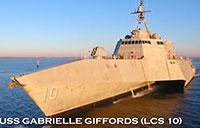USS Gabrielle Giffords (LCS 10) to Join Fleet
