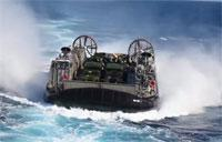 US Navy LCAC Hovercraft Launch & Recovery