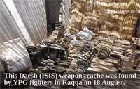ISIS Weapons Cache Seized in Raqqa