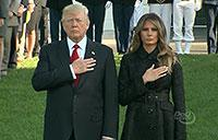 President, First Lady Conduct Moment of Silence